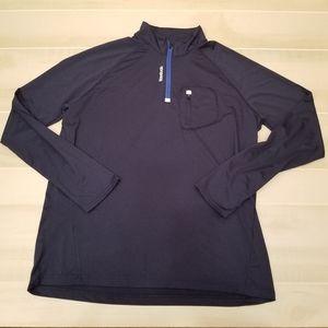 {XXL} Reebok Running Navy Quarter Zip Pullover